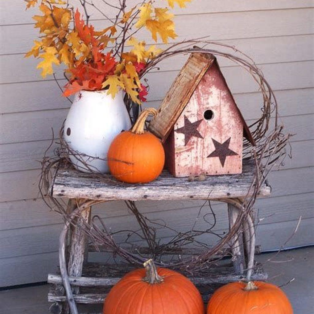 Easy Outdoor Fall Decoration To Inspire Yourself 32
