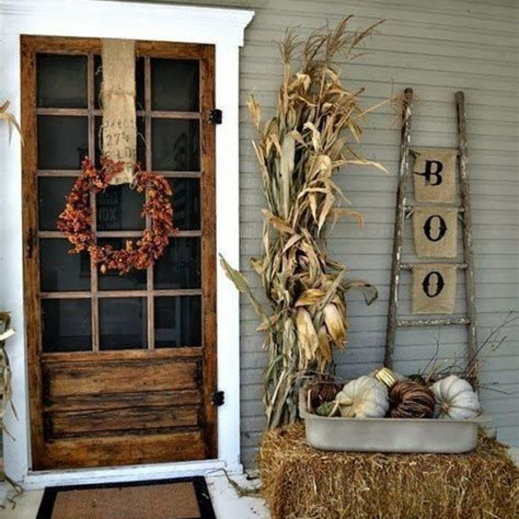 Easy Outdoor Fall Decoration To Inspire Yourself 33