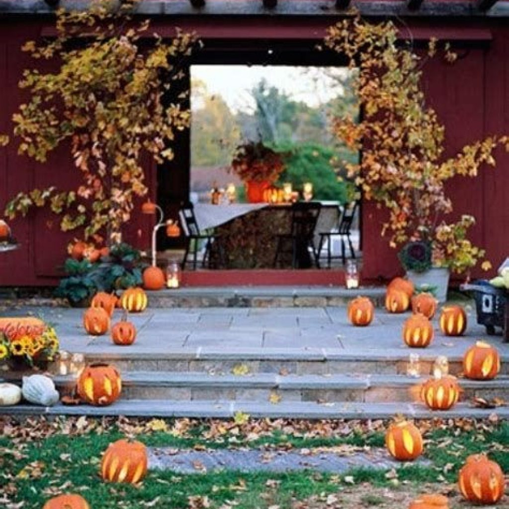 Easy Outdoor Fall Decoration To Inspire Yourself 36