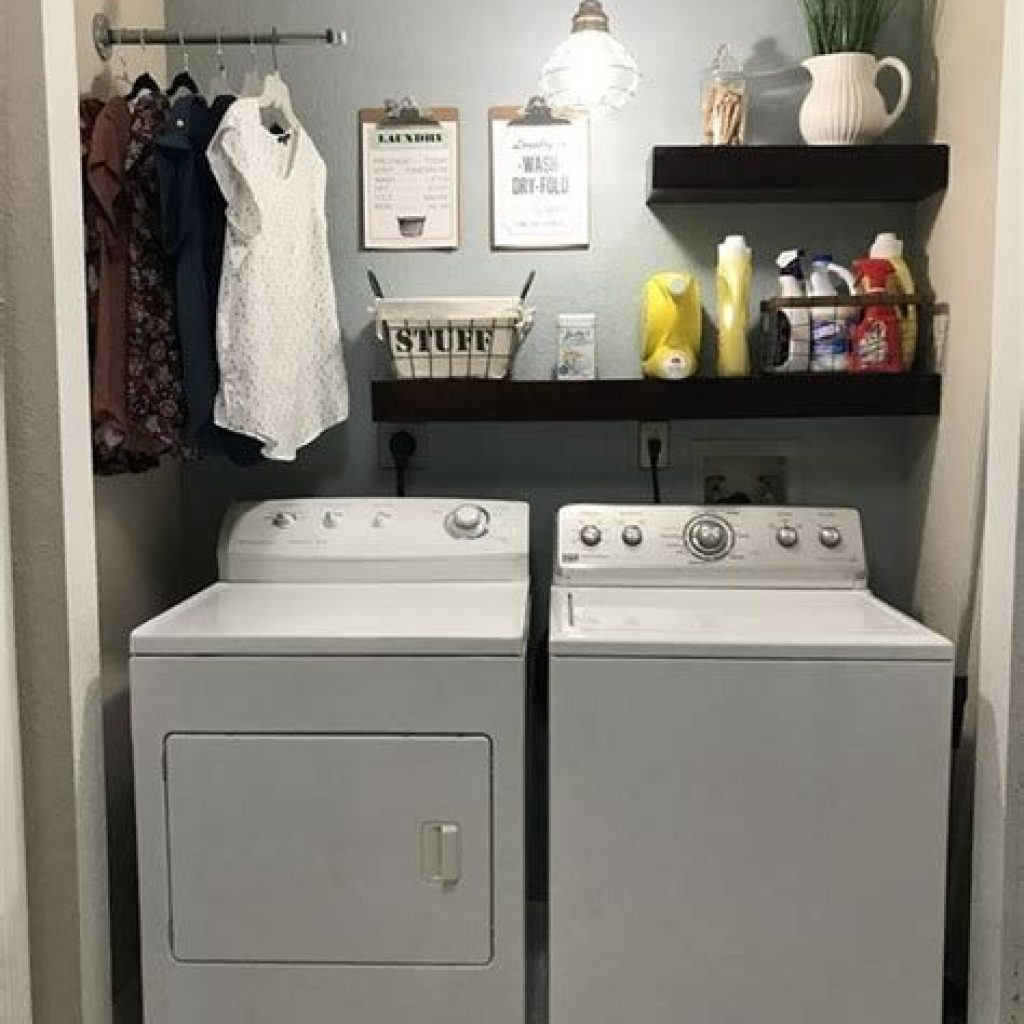 Fresh Minimalist Laundry Room For Small Space 03