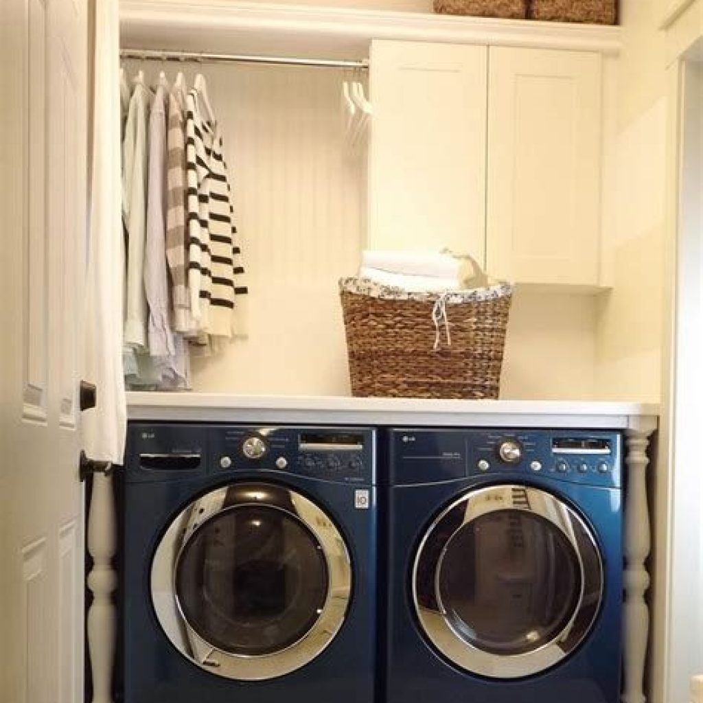 Fresh Minimalist Laundry Room For Small Space 05