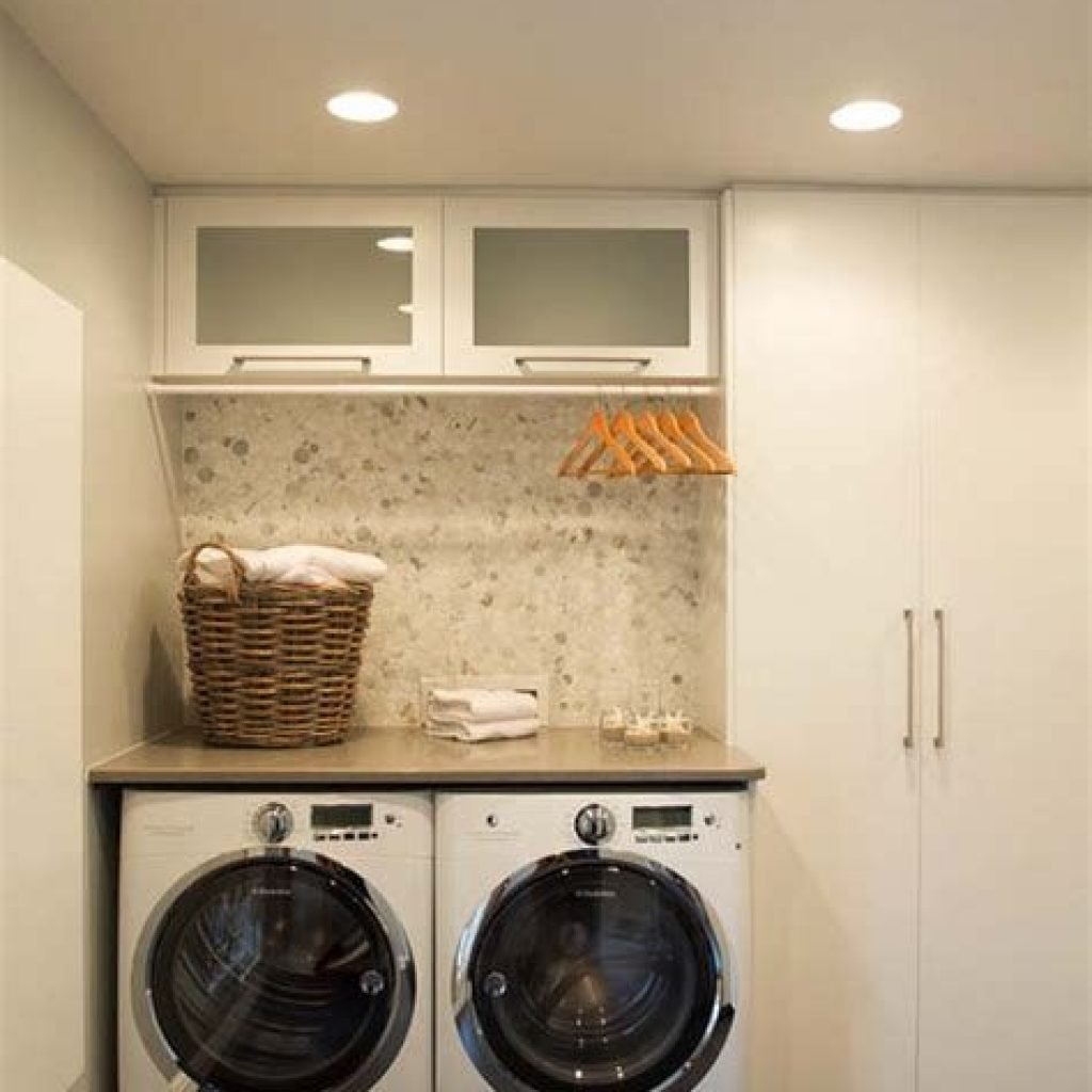 Fresh Minimalist Laundry Room For Small Space 08