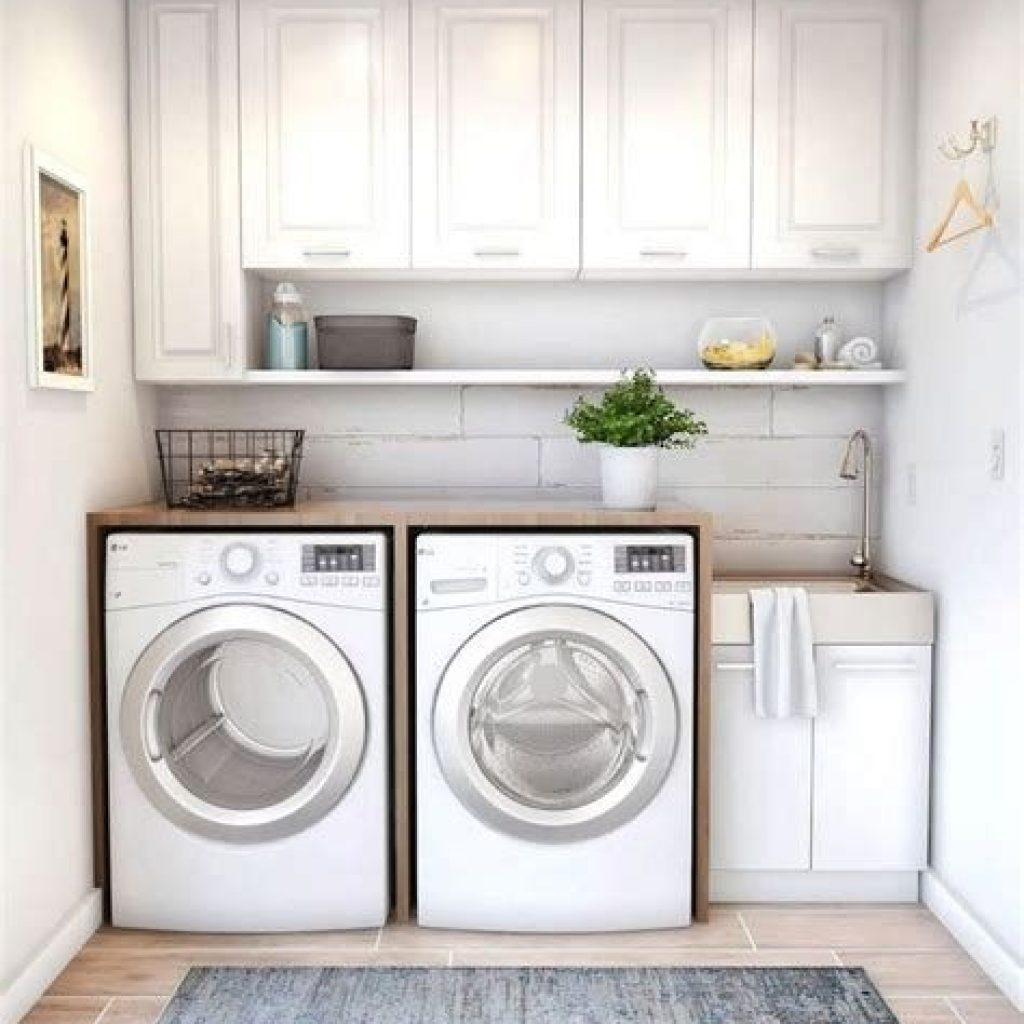 Fresh Minimalist Laundry Room For Small Space 09