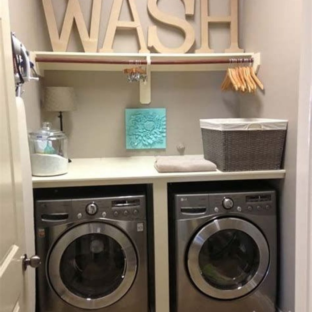 Fresh Minimalist Laundry Room For Small Space 10