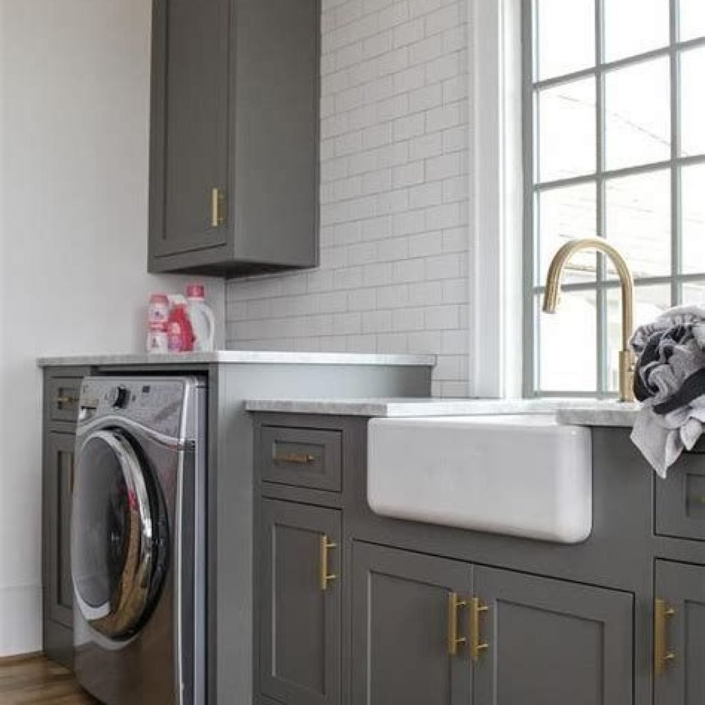 Fresh Minimalist Laundry Room For Small Space 14