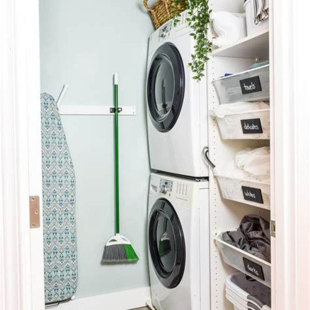 Fresh Minimalist Laundry Room For Small Space 15