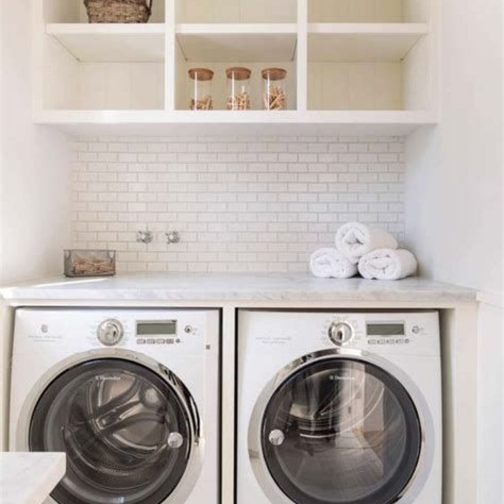 Fresh Minimalist Laundry Room For Small Space 16