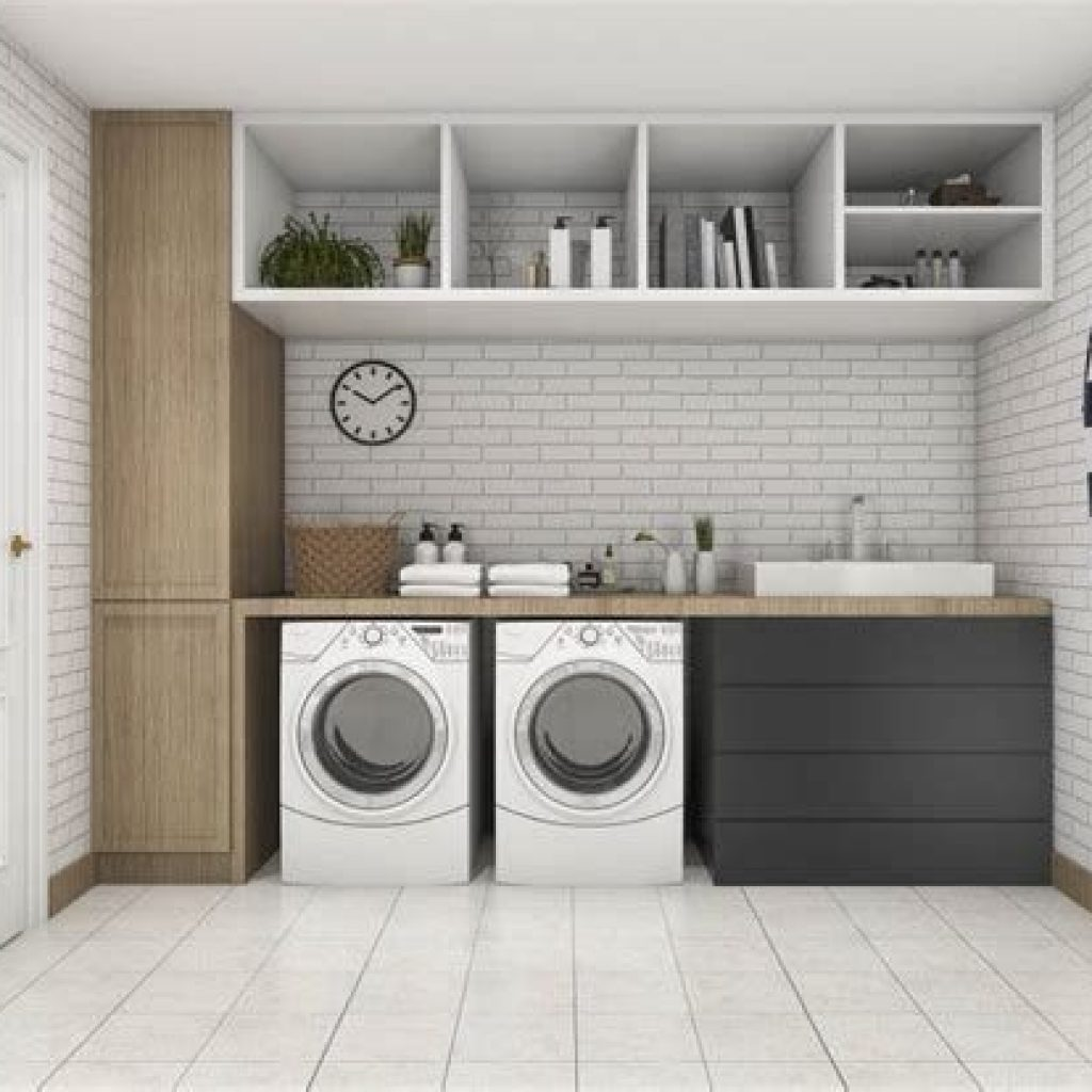 Fresh Minimalist Laundry Room For Small Space 17