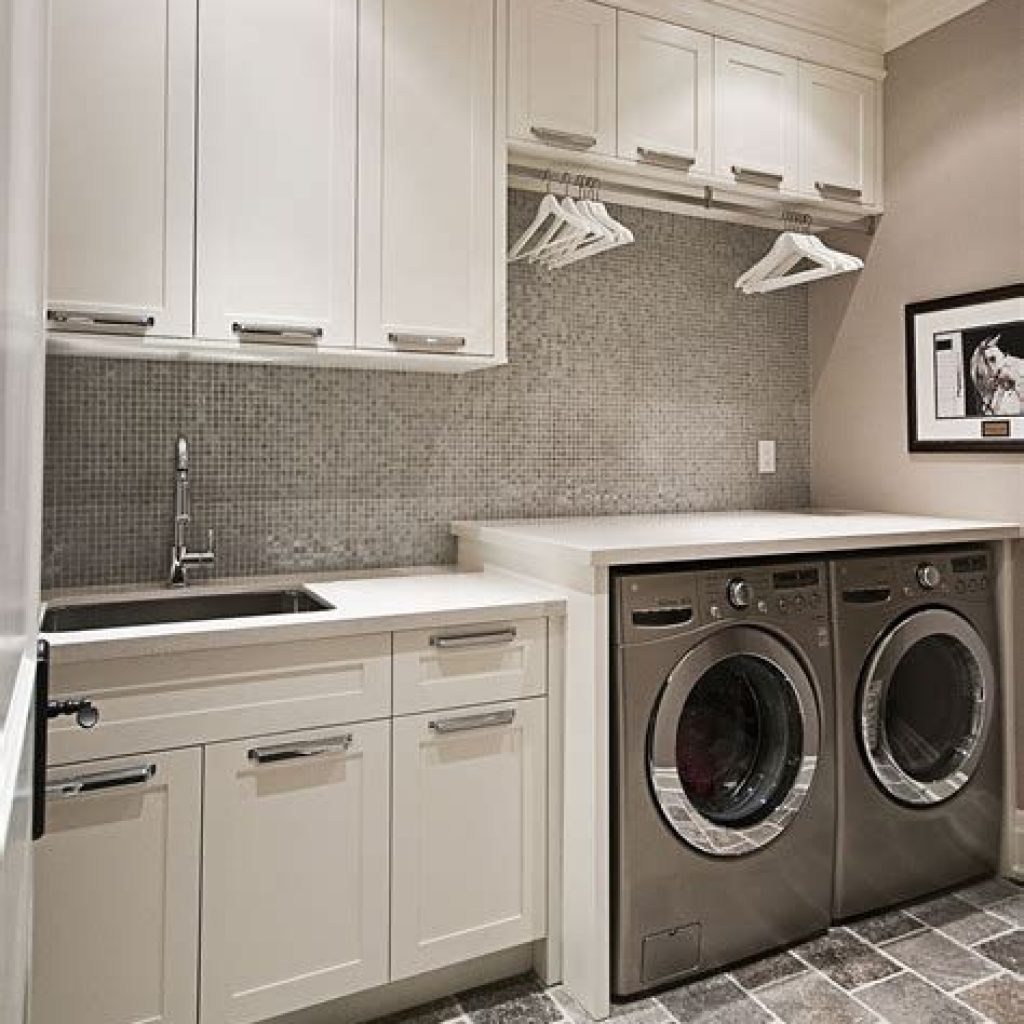 Fresh Minimalist Laundry Room For Small Space 18