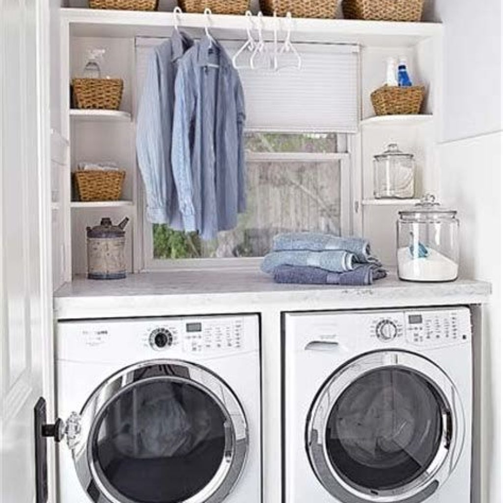 Fresh Minimalist Laundry Room For Small Space 20