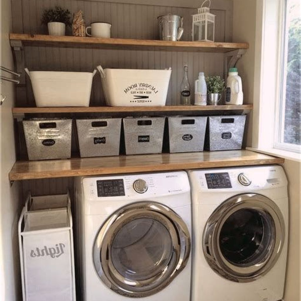 Fresh Minimalist Laundry Room For Small Space 21