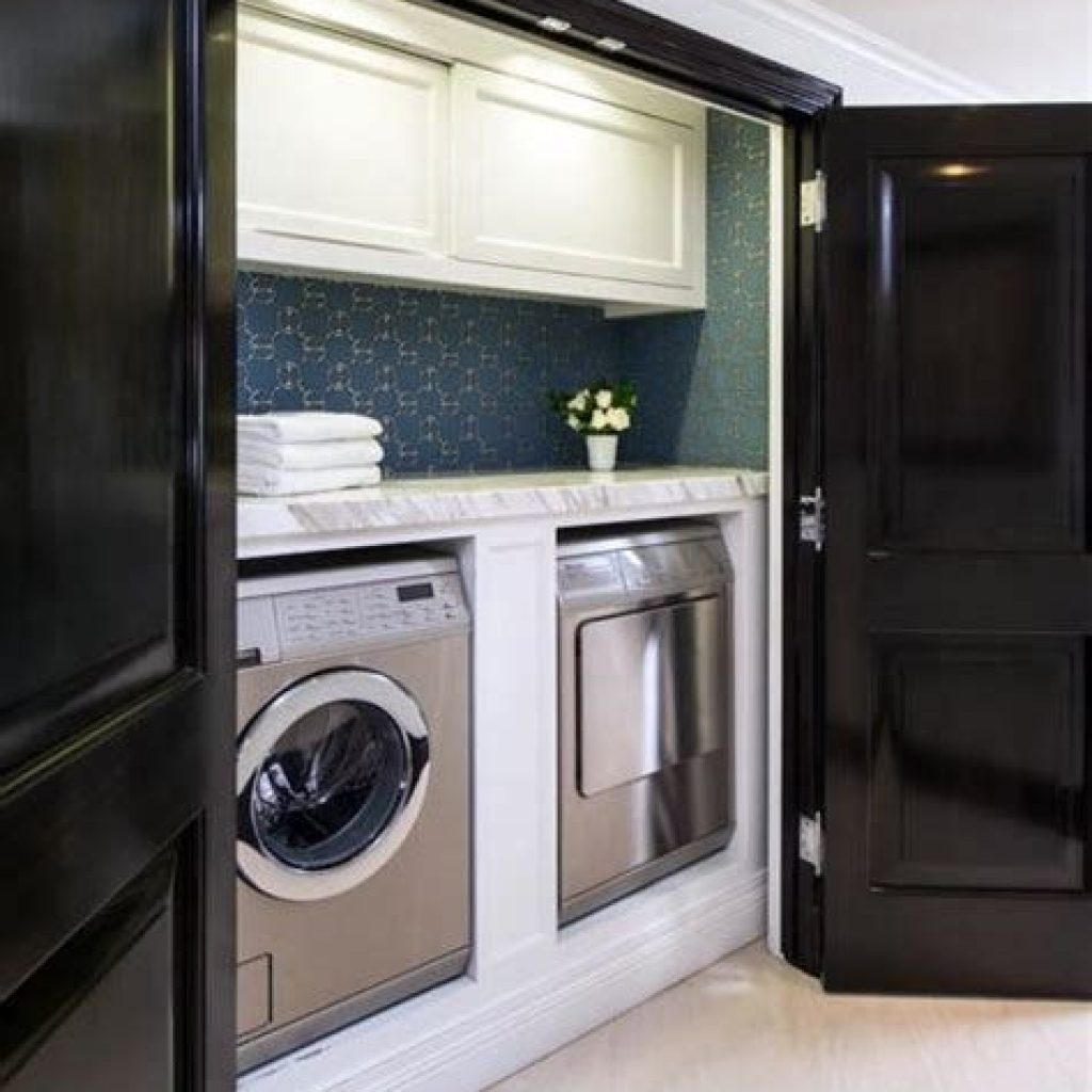 Fresh Minimalist Laundry Room For Small Space 25