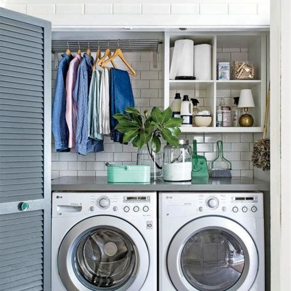 Fresh Minimalist Laundry Room For Small Space 26