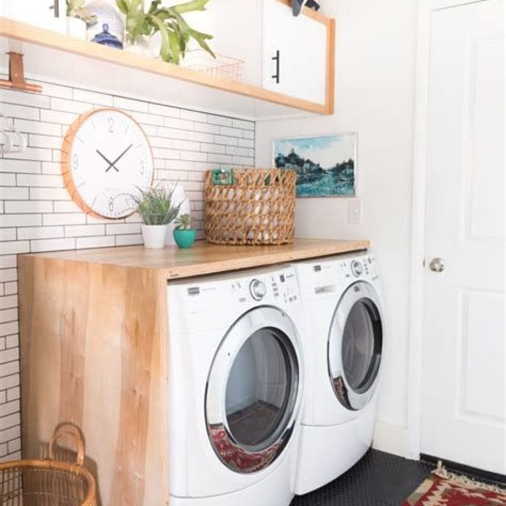 Fresh Minimalist Laundry Room For Small Space 29