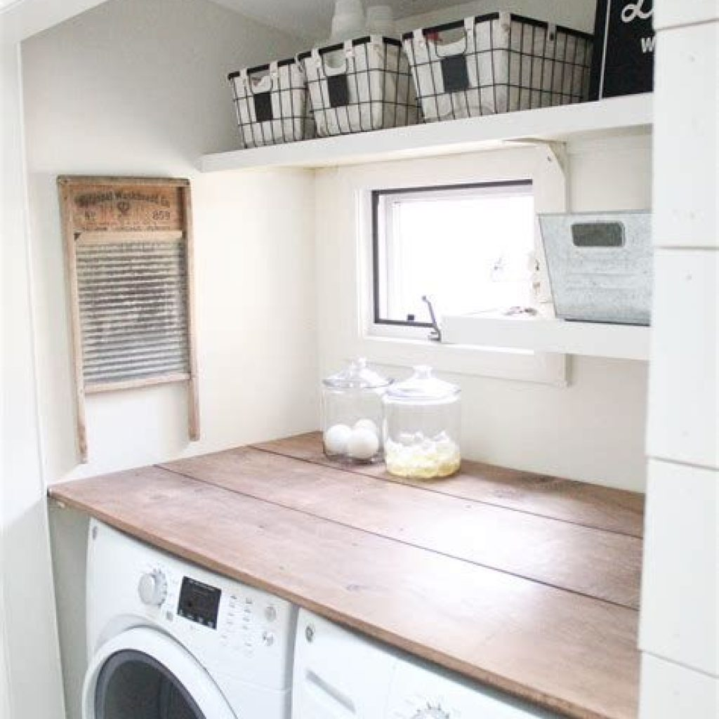 Fresh Minimalist Laundry Room For Small Space 30