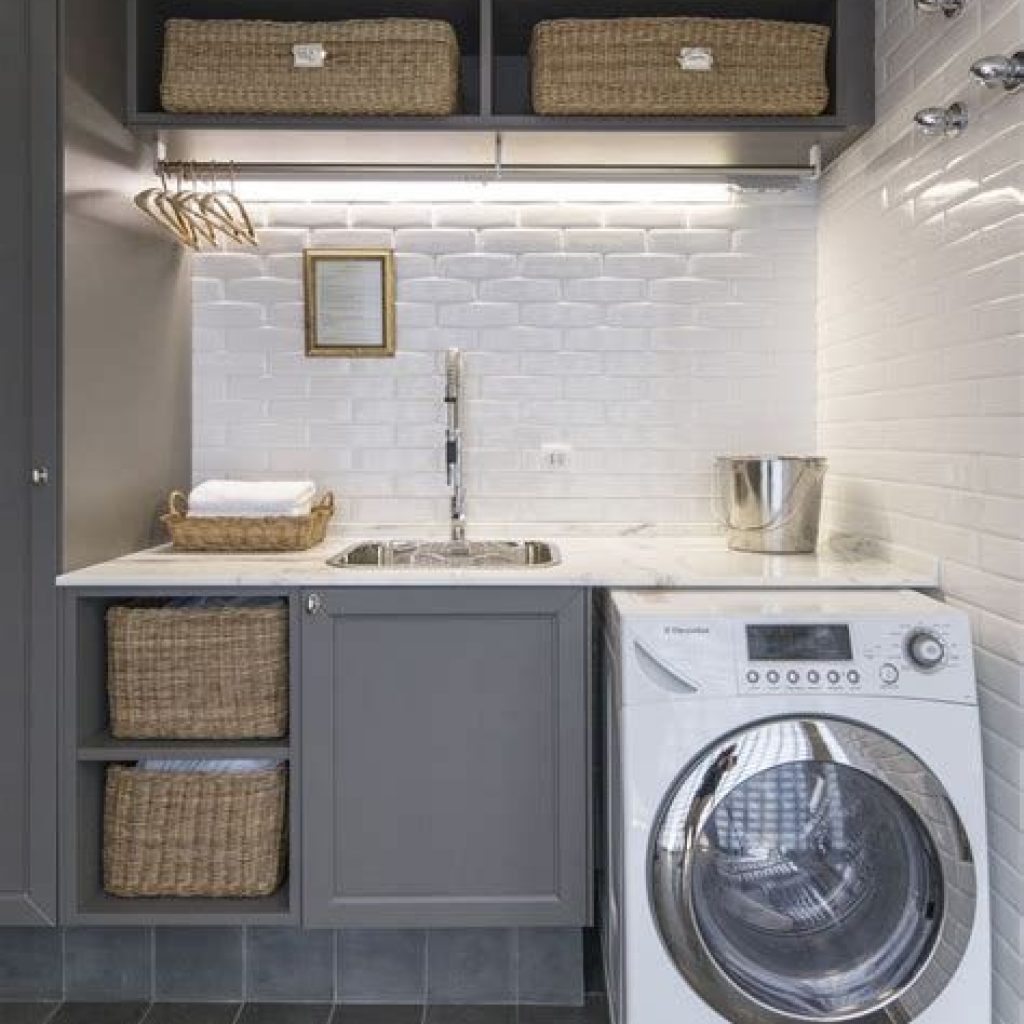 Fresh Minimalist Laundry Room For Small Space 32