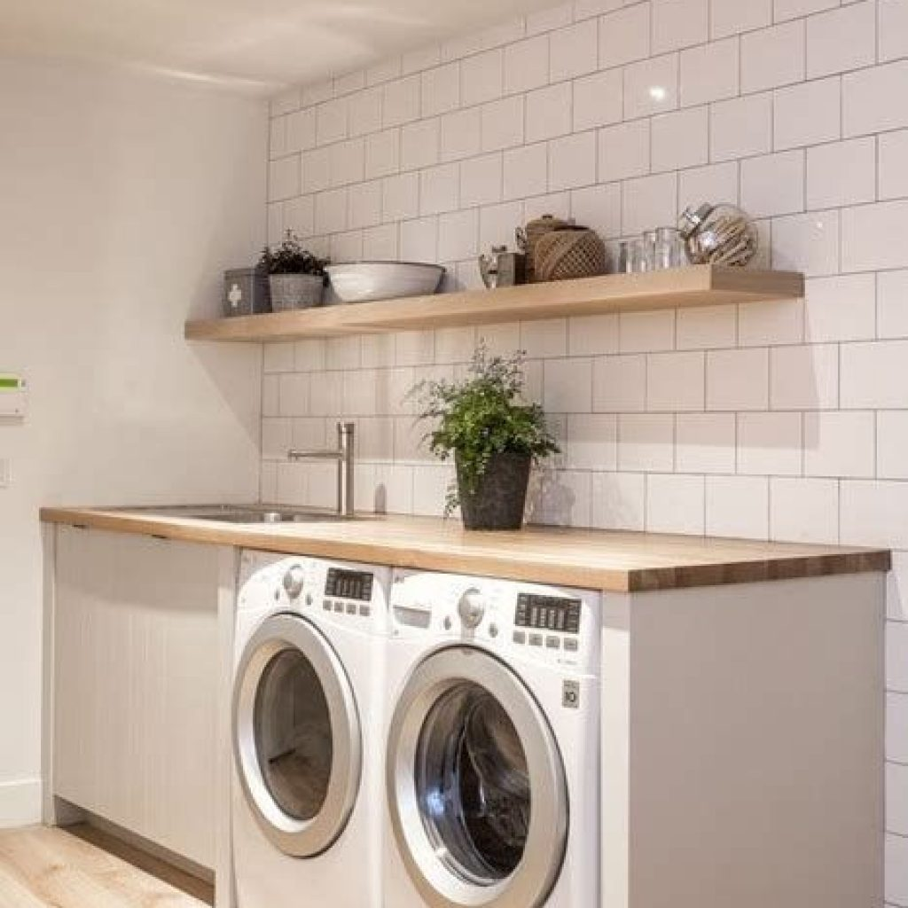 Fresh Minimalist Laundry Room For Small Space 33