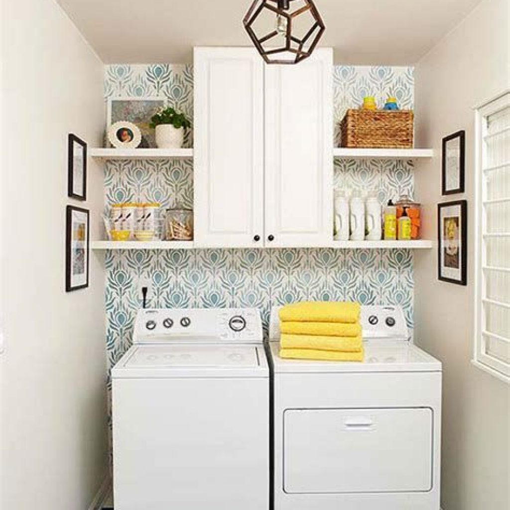 Fresh Minimalist Laundry Room For Small Space 40