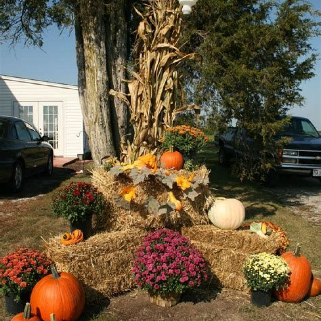 Incredible Fall Decoration For Your Front Yard On Budget 08