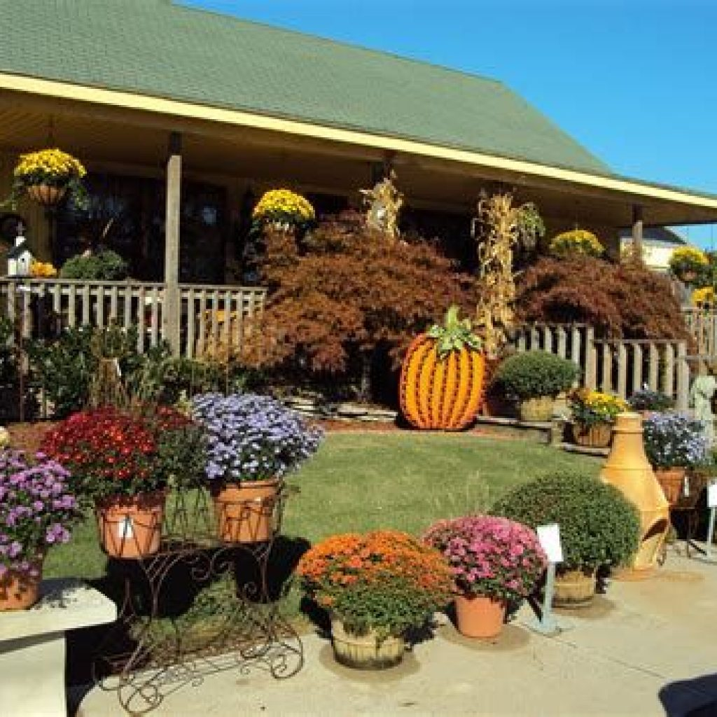 Simple But Beautiful Fall Decoration In The Front Yard 15
