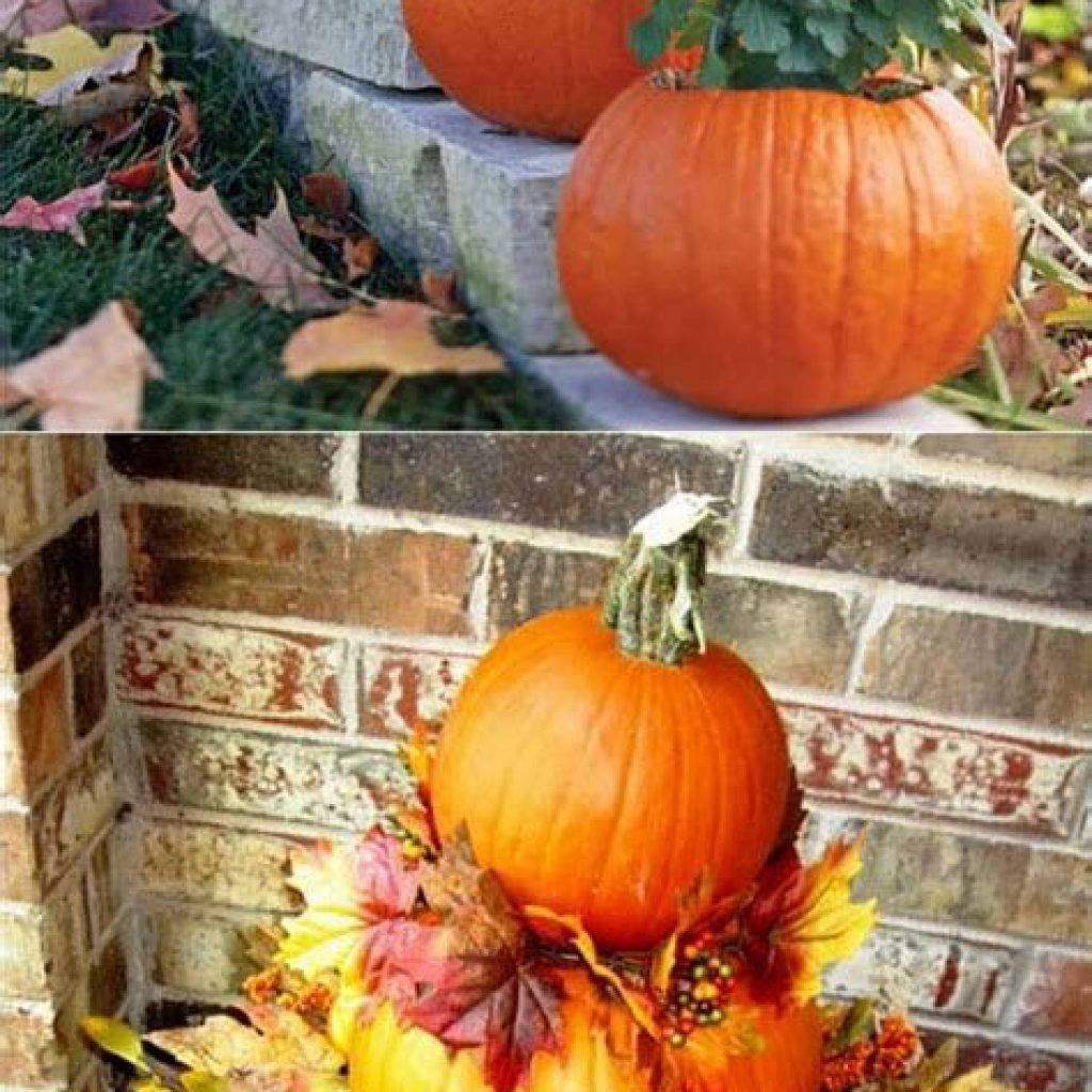 Simple But Beautiful Fall Decoration In The Front Yard 30