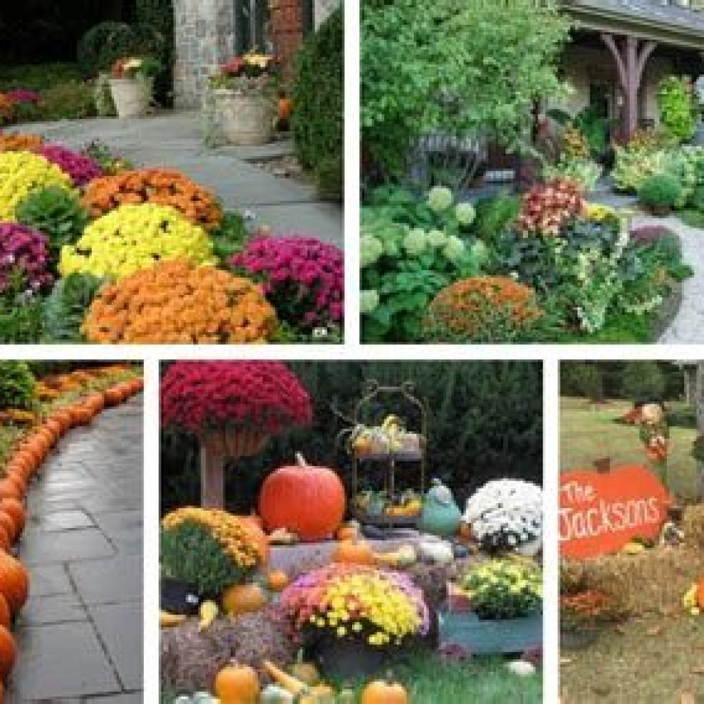 Simple But Beautiful Fall Decoration In The Front Yard 35
