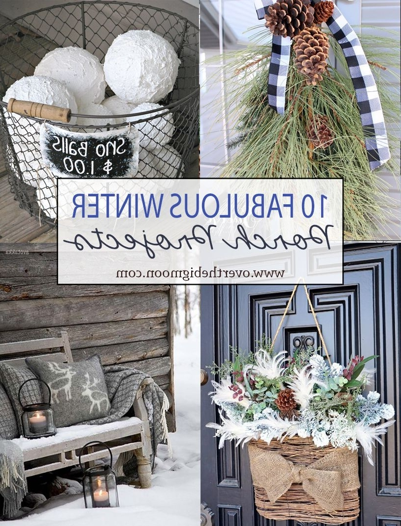 10 Wonderful Winter Front Porch Projects Rustic Winter