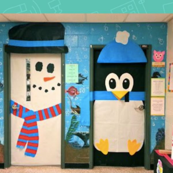 20 Creative Classroom Door Ideas For Winter School Door