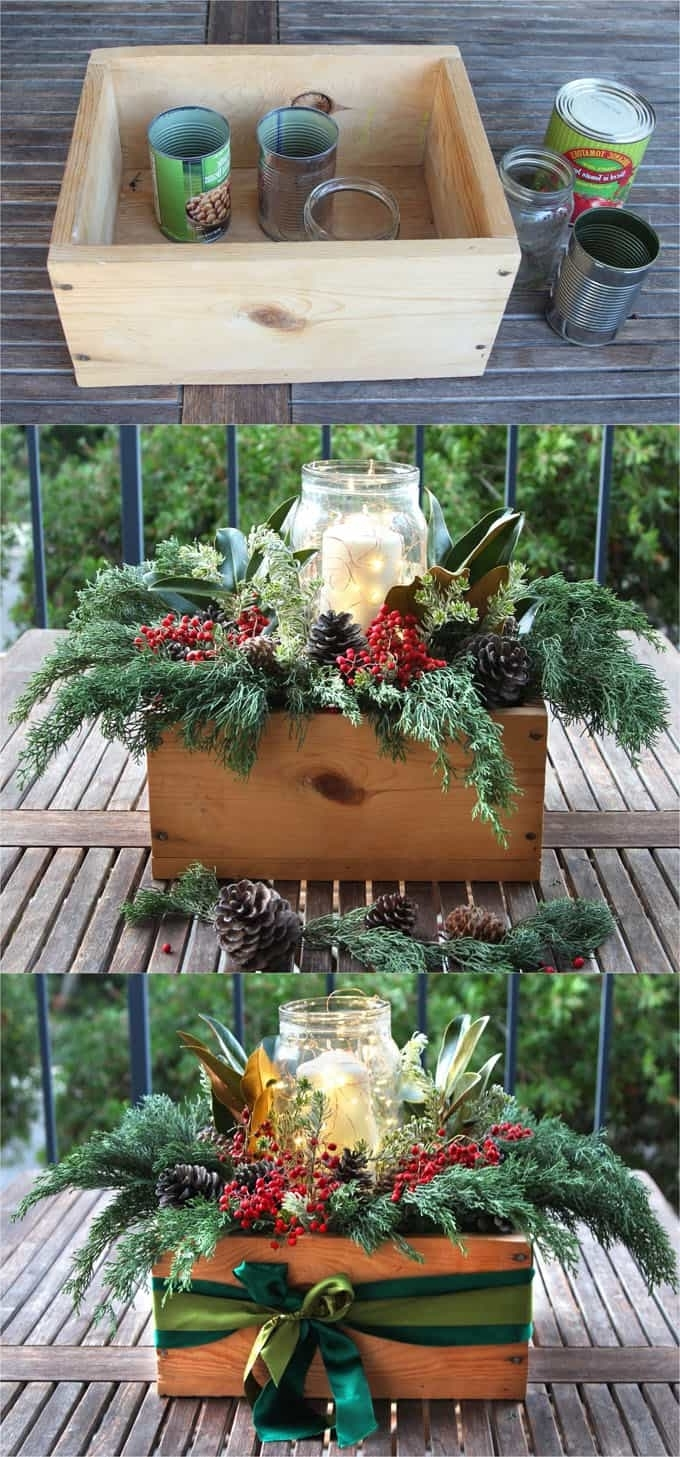24 Colorful Outdoor Planters For Winter Christmas