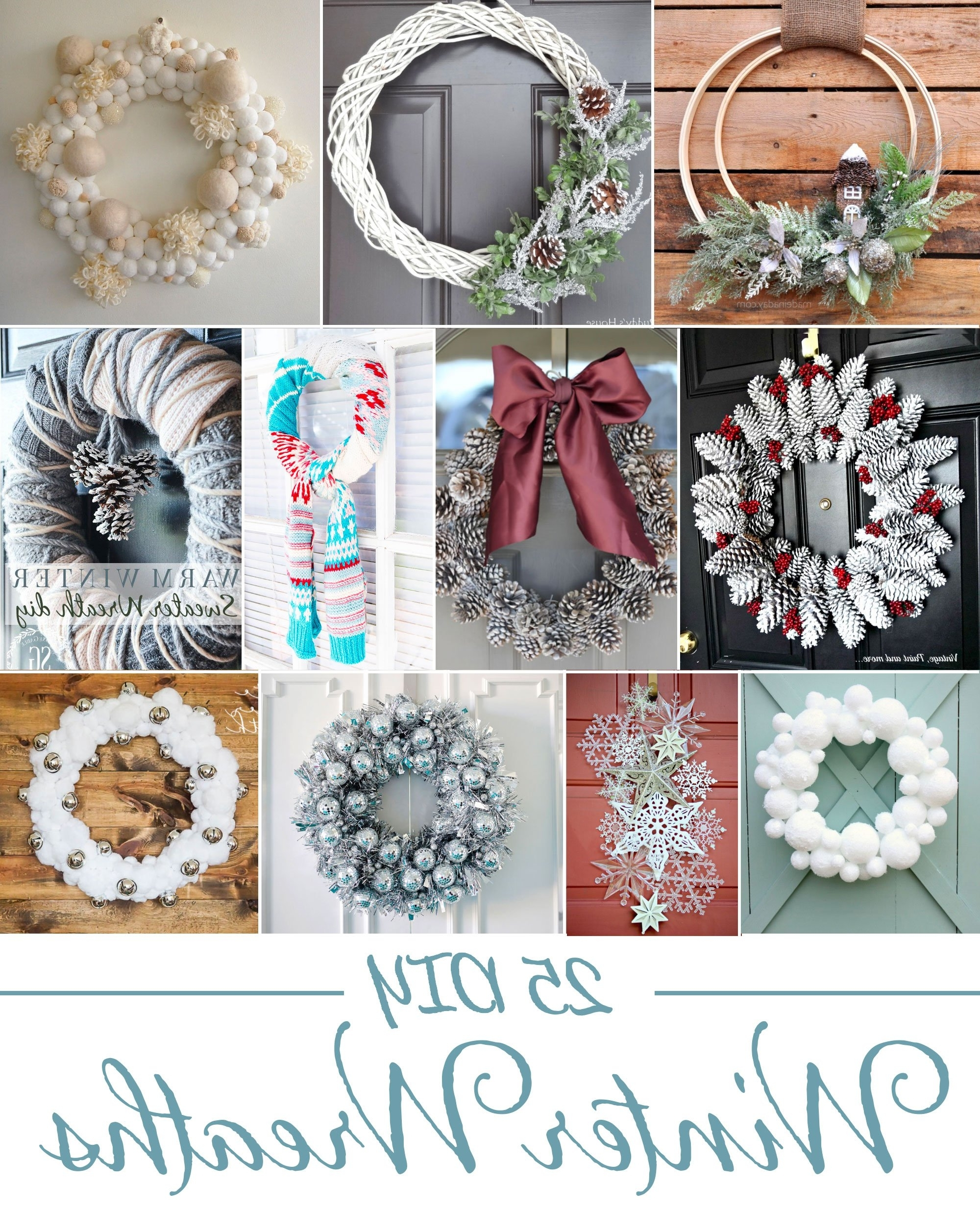 25 Diy Winter Wreaths