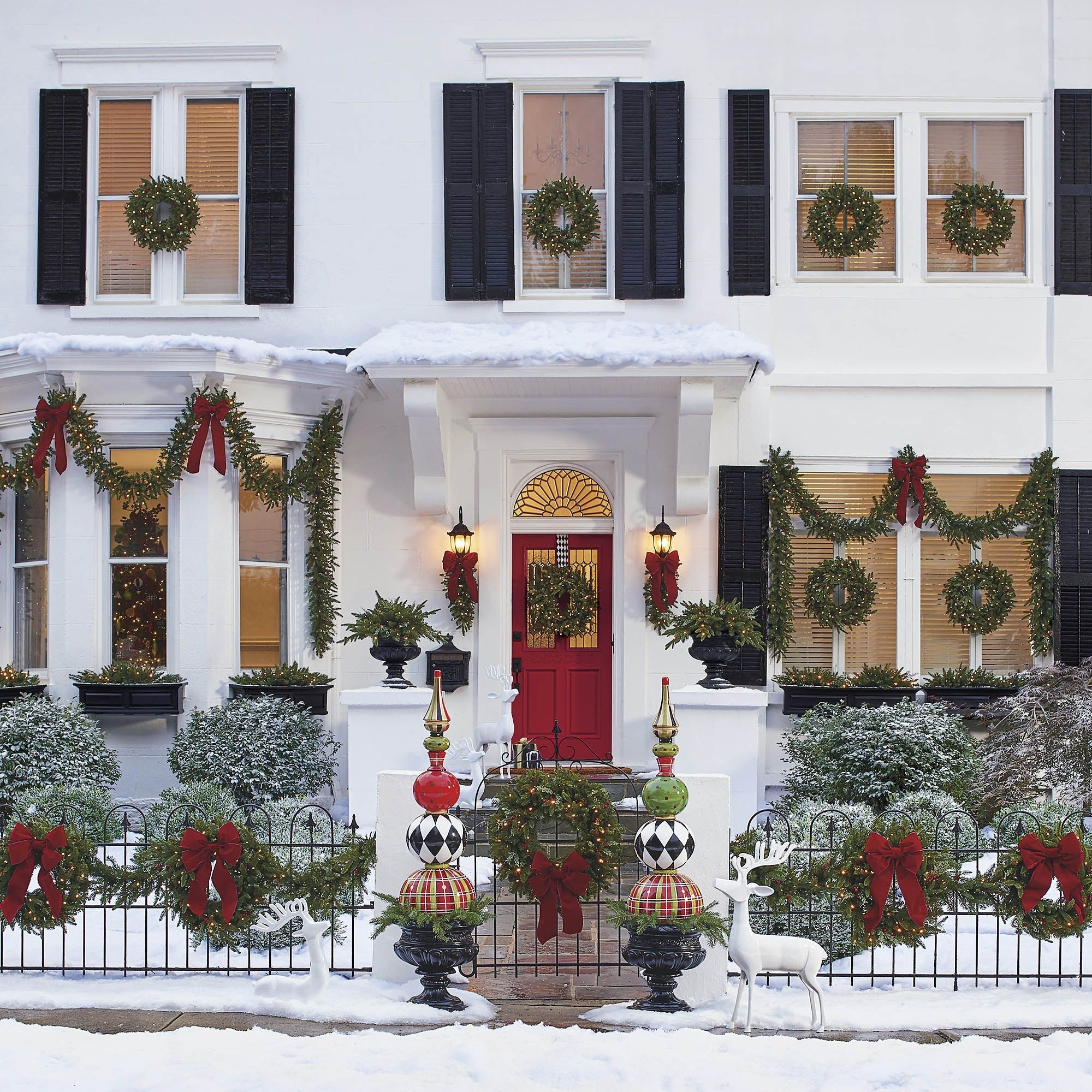 39 Spectacular Outdoor Christmas Decorations Best Holiday