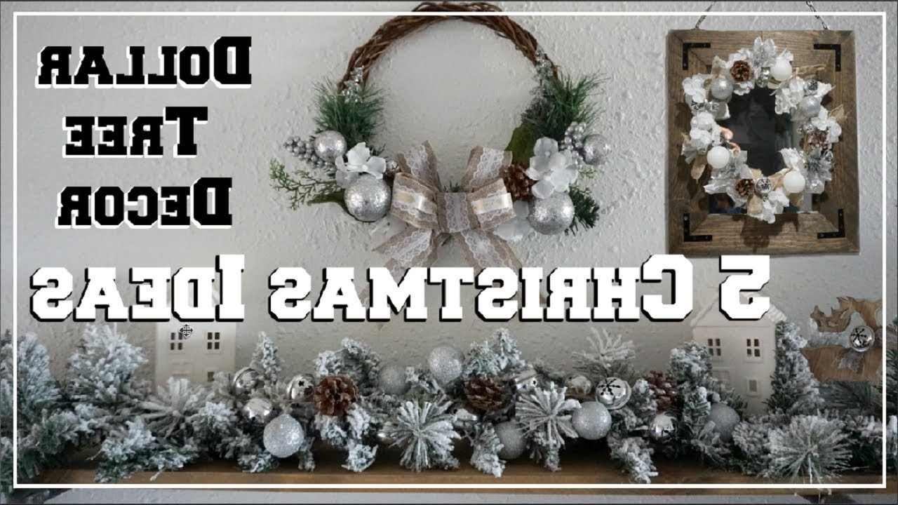 5 Dollar Tree Diy Christmas Decor Ideas Winter Wonderland Decor Momma From Scratch