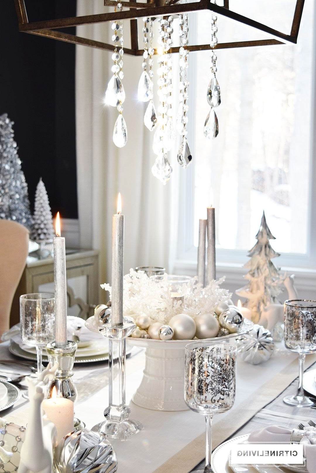 A Winter White And Silver Holiday Tablescape Holiday