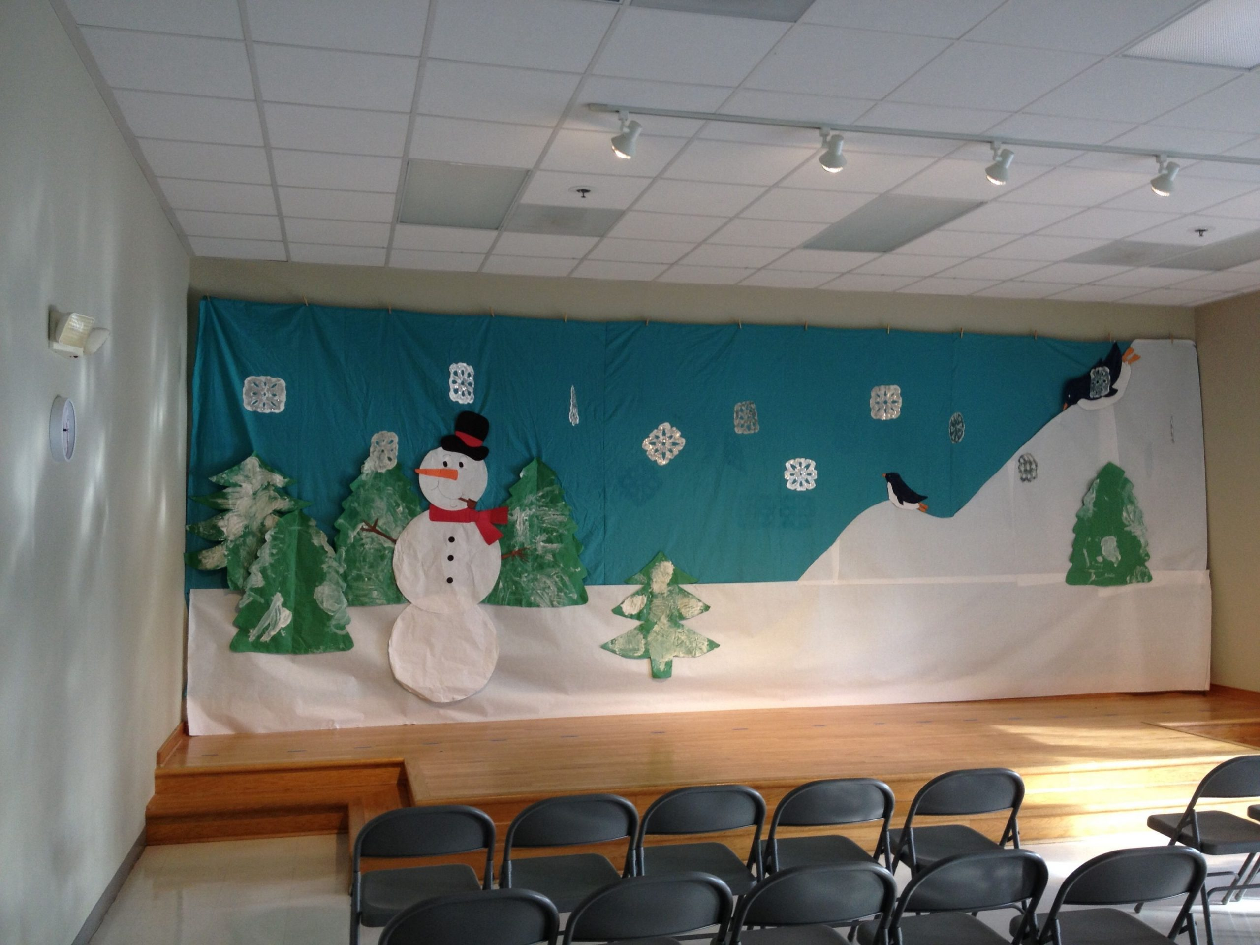 Back Drop For Holiday Shows At School Winter Wonderland