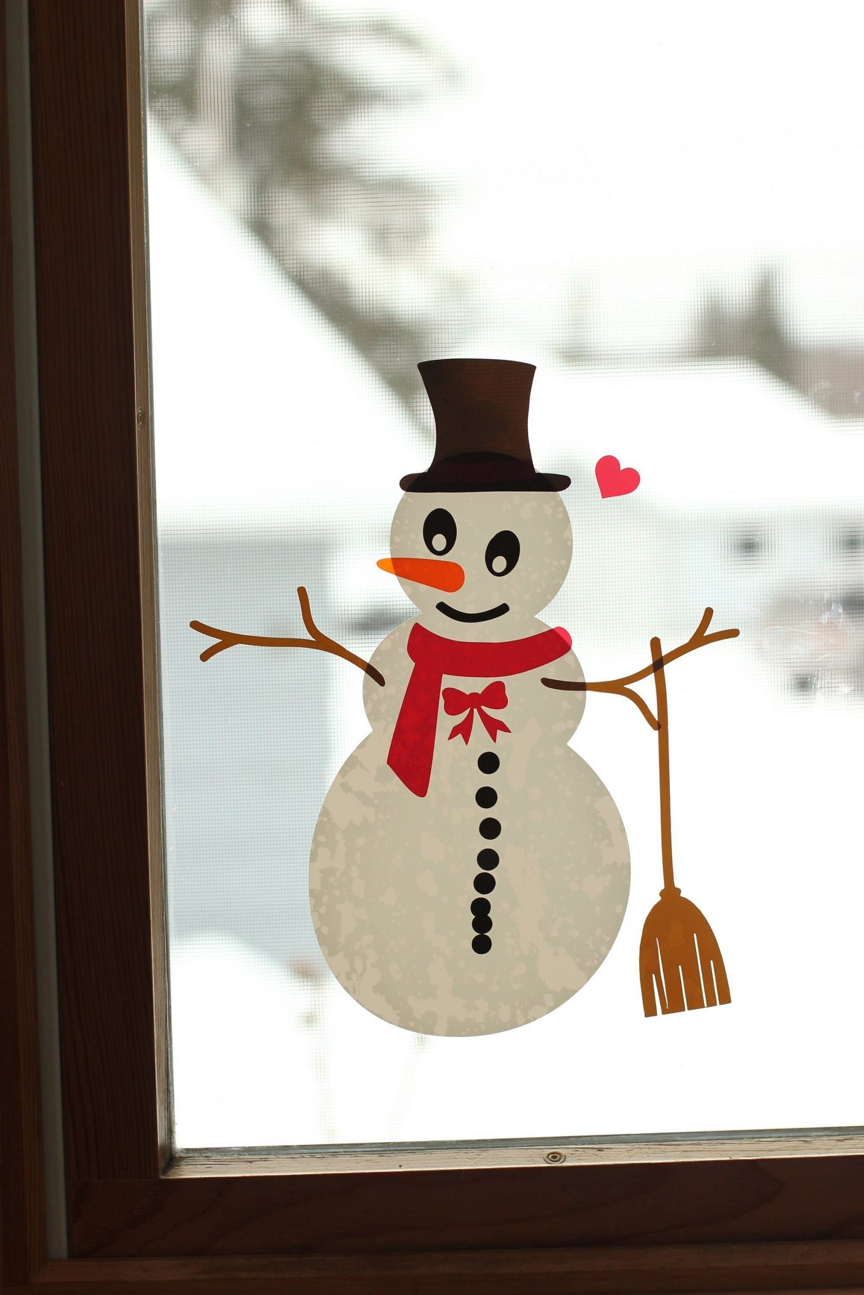 Christmas Snowman Window Cling Kit Kids Christmas Decals