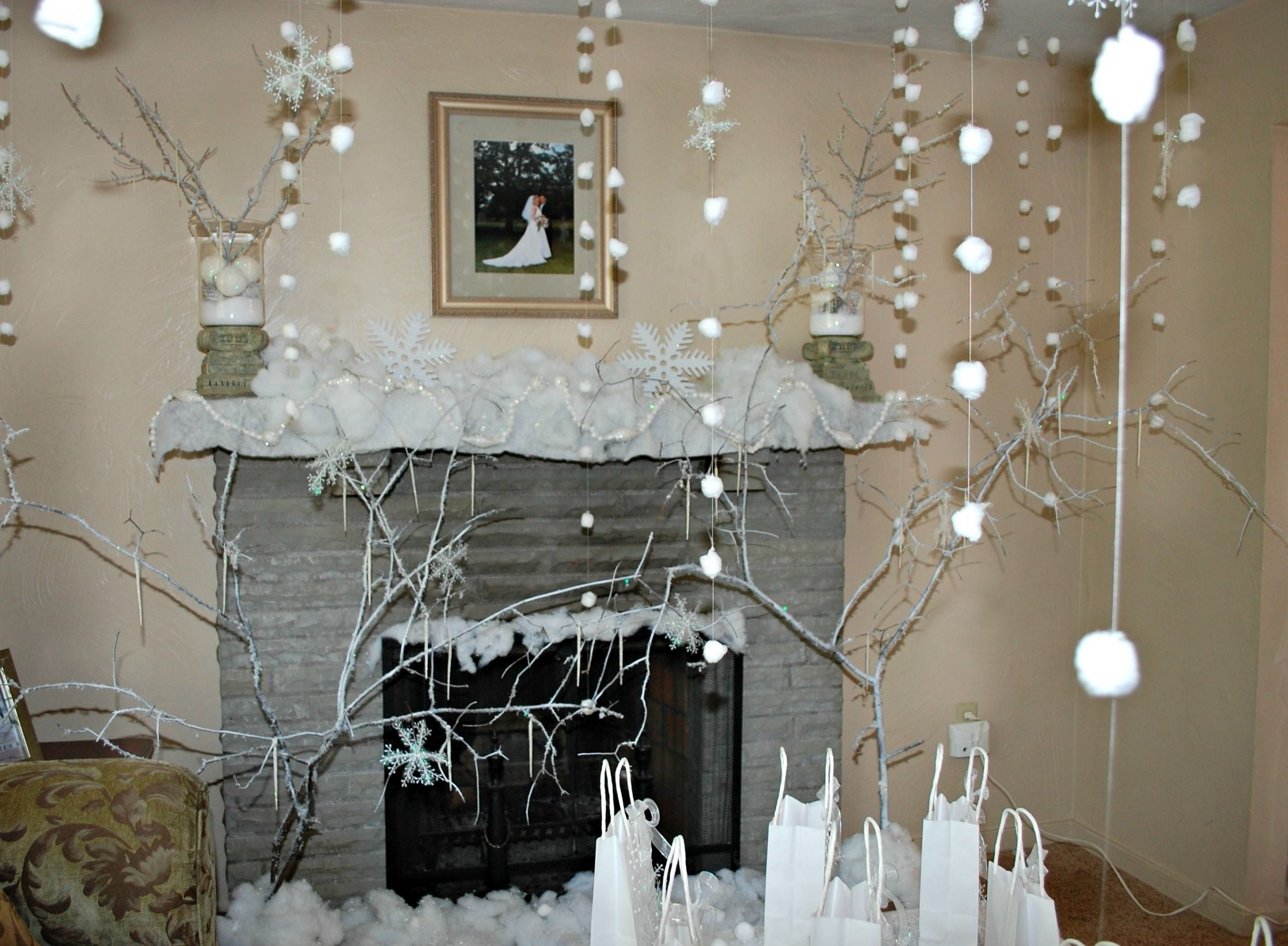 Cotton Ball Snow Falling From The Ceiling Winter
