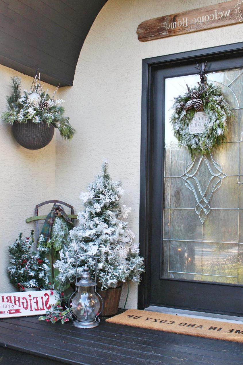 Diy Christmas Hanging Baskets Clean And Scentsible
