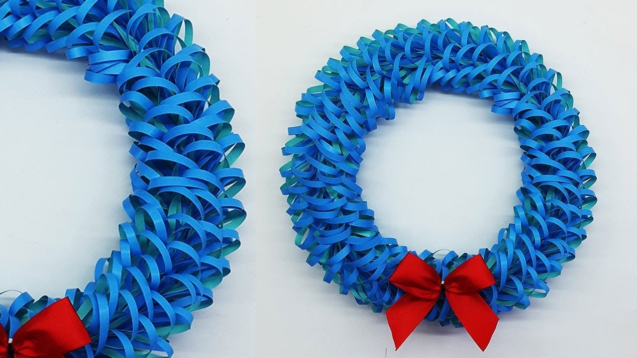Diy How To Make Paper Christmas Wreath Winter Decor Paper Wreath For Christmas Decorations Ideas