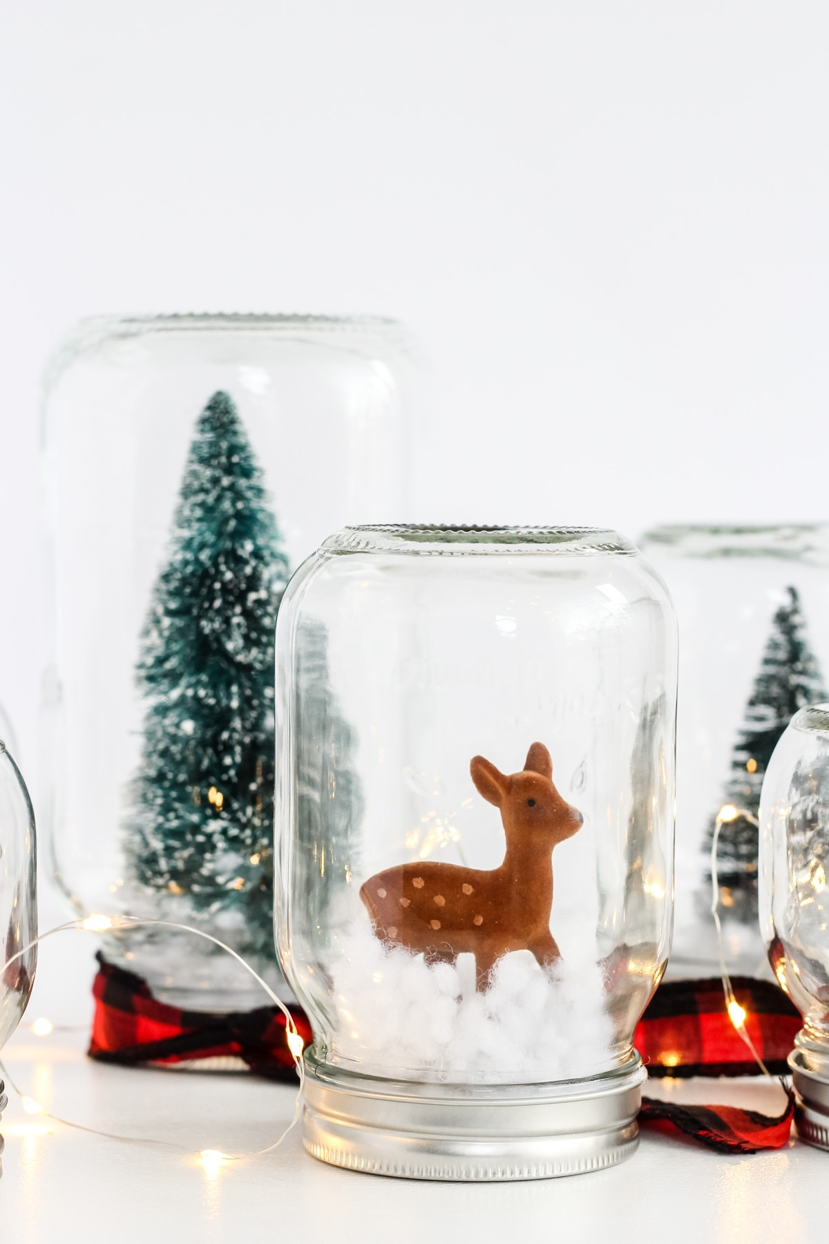 Diy Winter Wonderland Snow Globe Forest A Pretty Life In