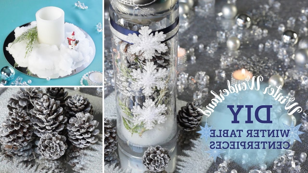 Diy Winter Wonderland Table Centerpieces Fake Snow Balsacircle