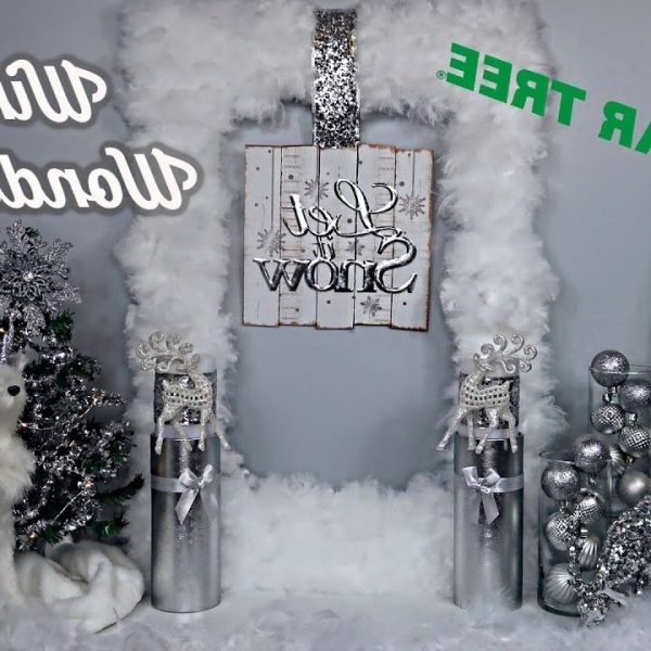 Dollar Tree Diys Winter Wonderland Theme Glam Christmas Decor Chic On The Cheap