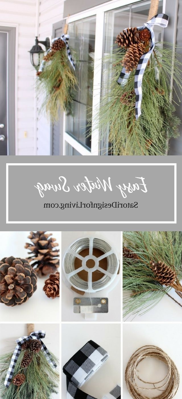 Front Porch Decorating Diy Winter Swag Outdoor Christmas