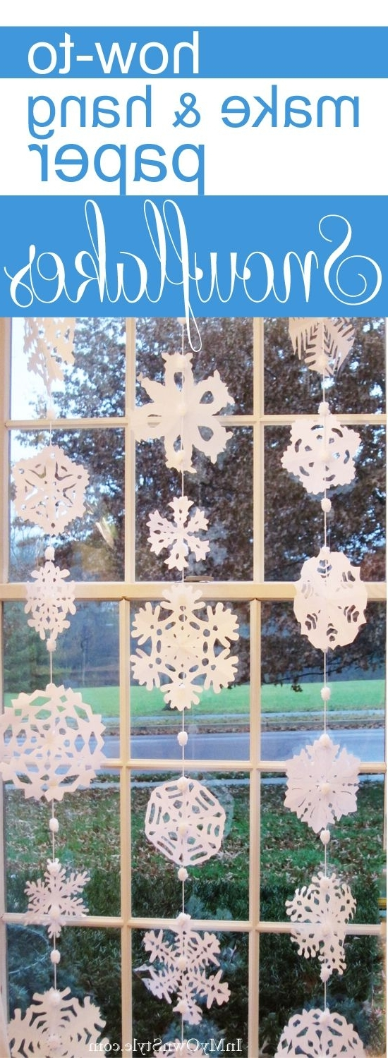 How To Make Paper Snowflakes Into A Window Curtain