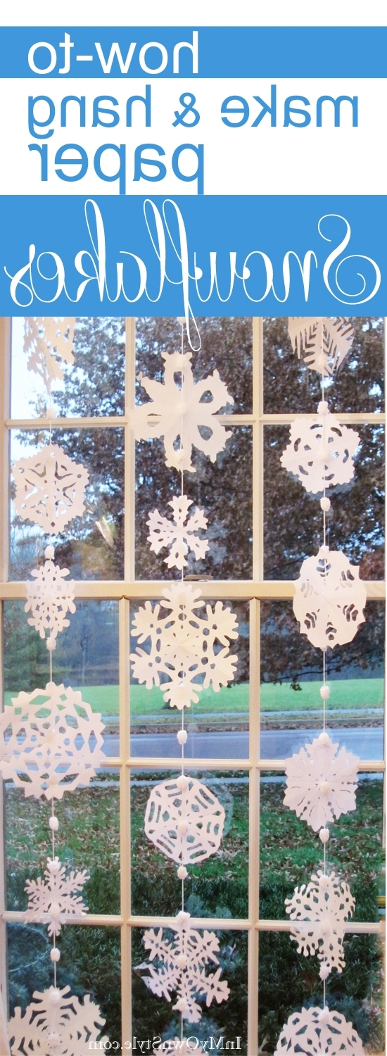 How To Make Paper Snowflakes Into A Window Curtain In My