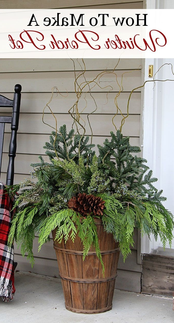How To Make Winter Porch Pots Christmas Decorations