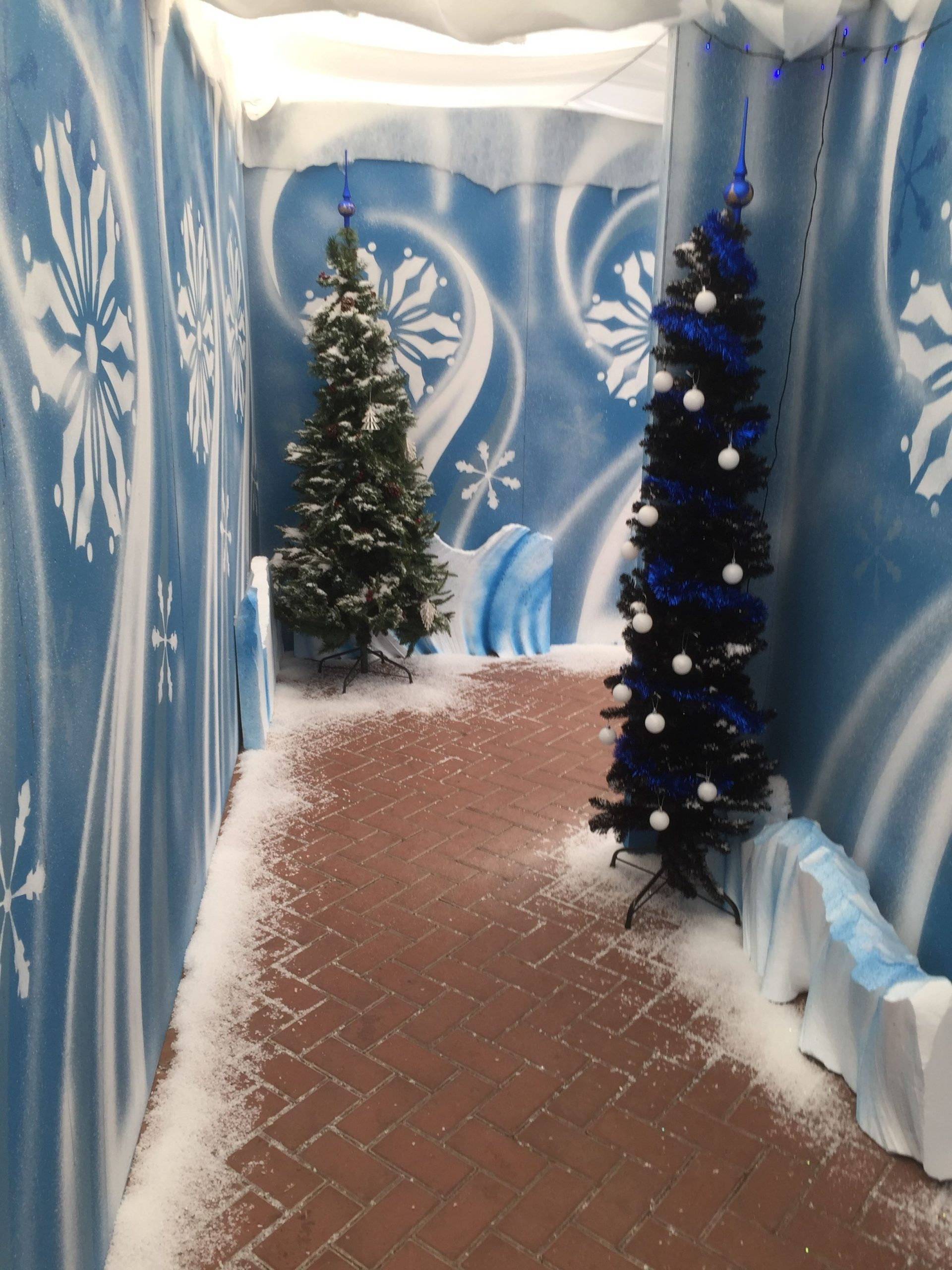 One Of The Magical Walkways Through A Christmas Grotto