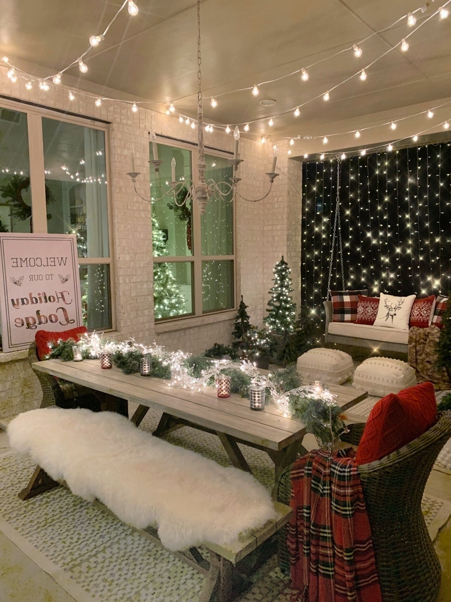 Our Back Patio Faux Winter Wonderland My Texas House