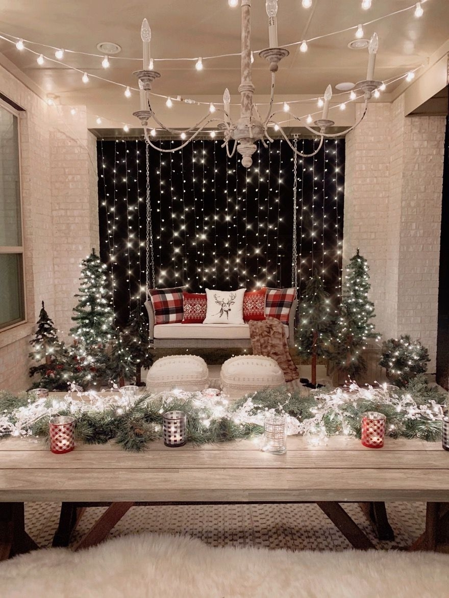 Our Back Patio Faux Winter Wonderland My Texas House In