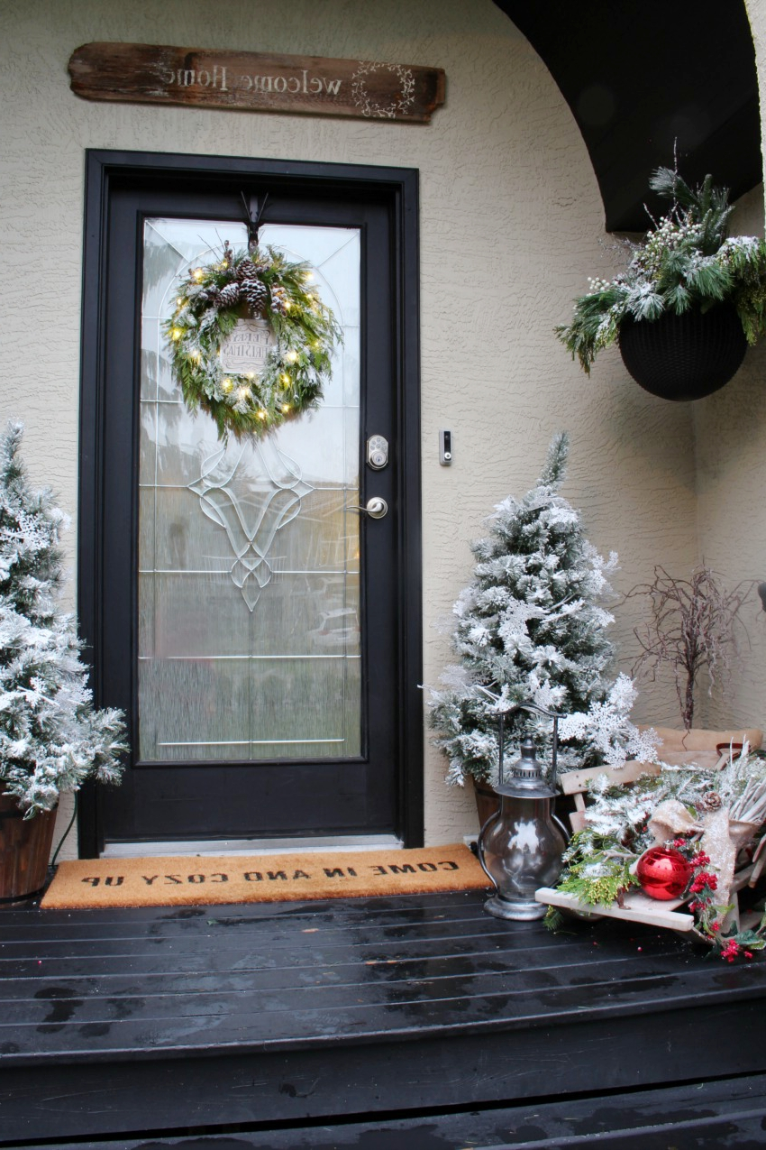 Our Winter Wonderland Christmas Front Porch Clean And