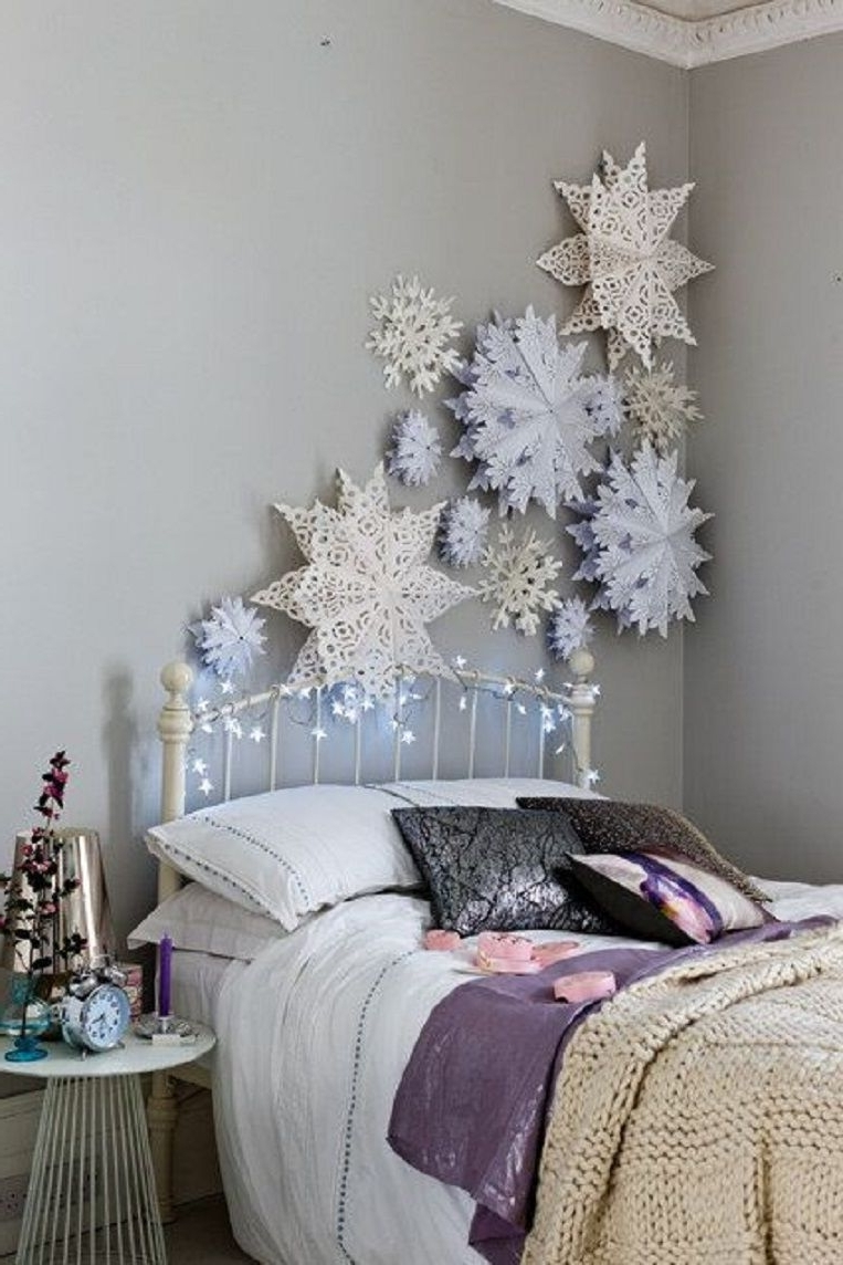 Oversized Paper Snowflakes For A Winter Wonderland Feel 12